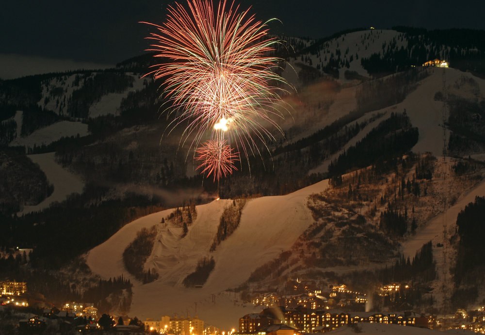 Fireworks over Steamboat, CO.