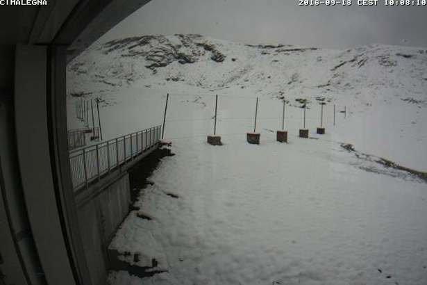 Alagna Valsesia, prima nevicata di settembre, 18.09.16 - © Webcam Monterosa