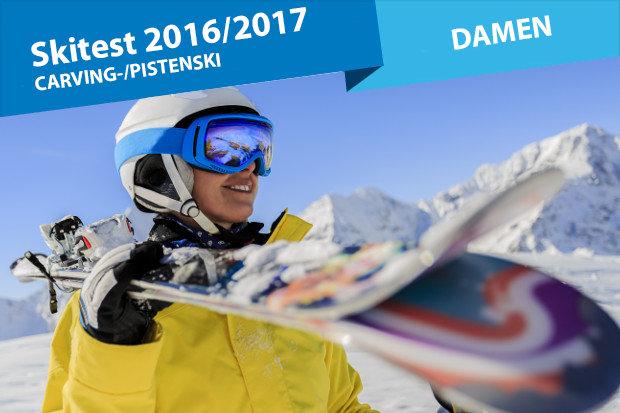 Carving ski test  damen sportliche frauenski für