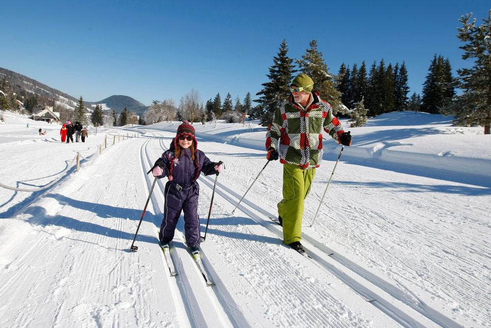 Plaisirs de la glisse sur le domaine de ski de fond de Métabief - © Station de Métabief