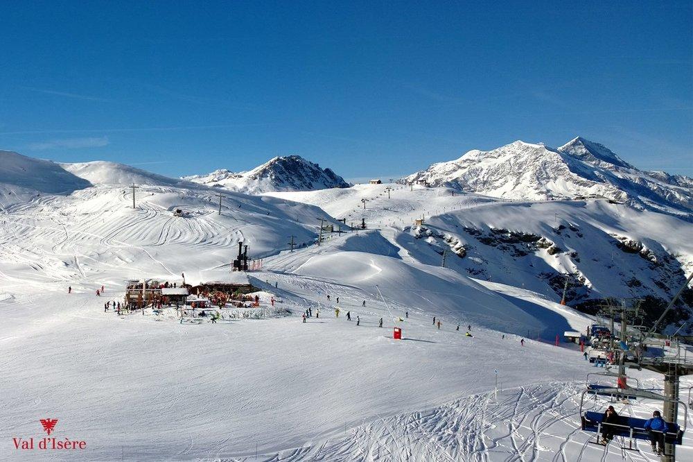 Dans l'immensité du domaine skiable de Val d'Isère - © Office de tourisme de Val d'Isère