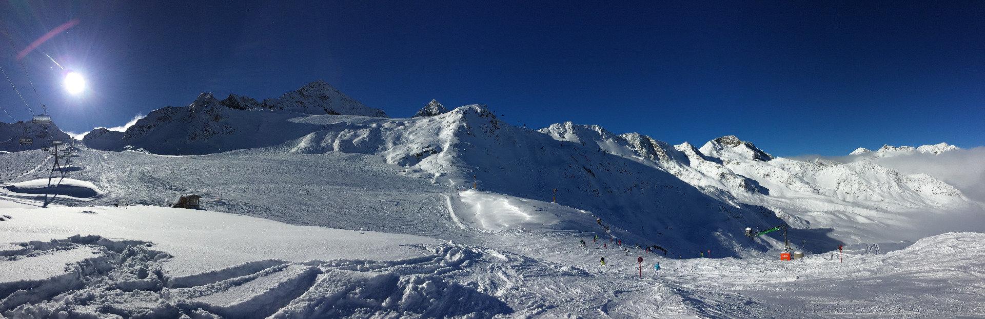Záběry ze Stubaiského ledovce (13.-14.11.2016) - © Skiinfo