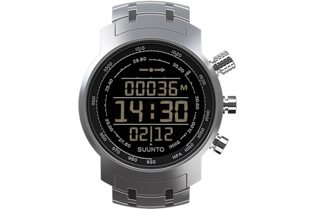 Suunto Elementum Terra Steel: $1,200 Billed as a premium sports watch for urban and mountain life, this timepiece allows you to see weather trends while keeping your altitude and direction in check. Its stainless steel casing and sapphire crystal glass will keep the elements in check, too.