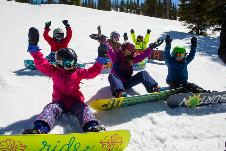 Throw'em up! Kids getting down at Aspen Snowmass. - © Jeremy Swanson