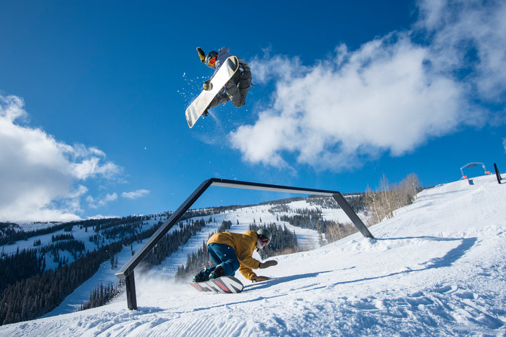 The park and pipe scene is alive and well at Aspen Snowmass. Send'er.  - © Scott Markewitz