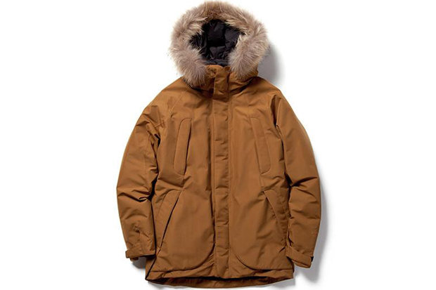 Goldwin Down Mountain Coat: $1,100 For the man about (mountain) town, this lifestyle parka is made in the country with the most ski resorts, Japan, so you know it's good. It features GORE-TEX, magnetic closures, Kodenshi down and 80-denier fabric, giving wearers the look and feeling of high-end bulletproof-ness.