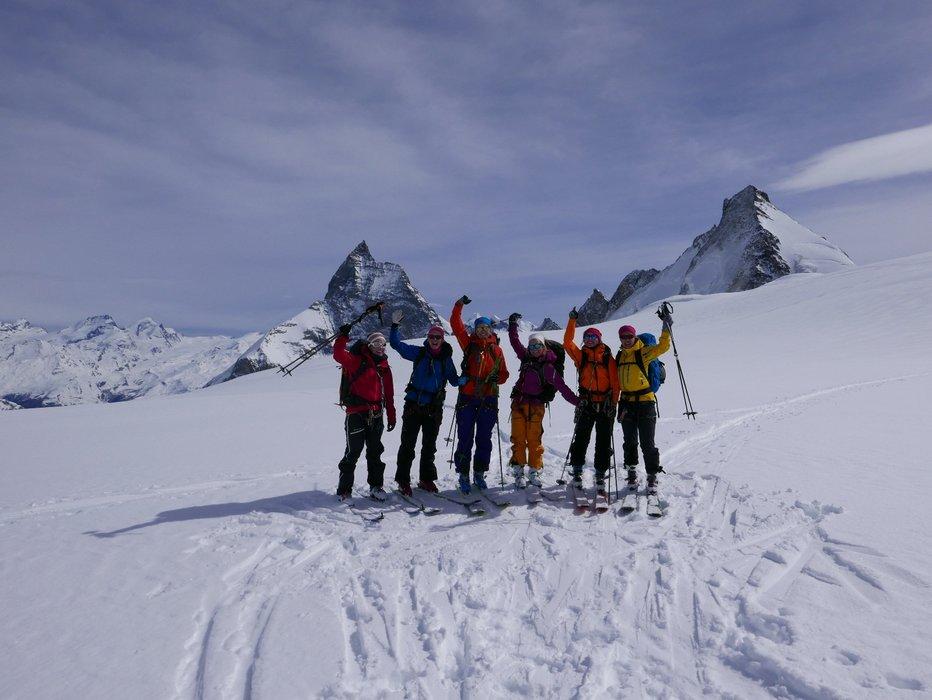 En veldig glad gjeng foran Matterhorn siste dagen. - © Mattias Erlandson