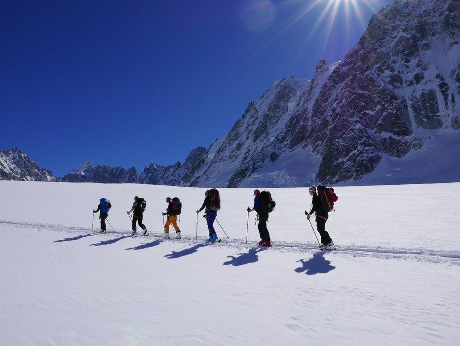 På vei mot Argentier-hytta første dagen. - © Mattias Erlandson