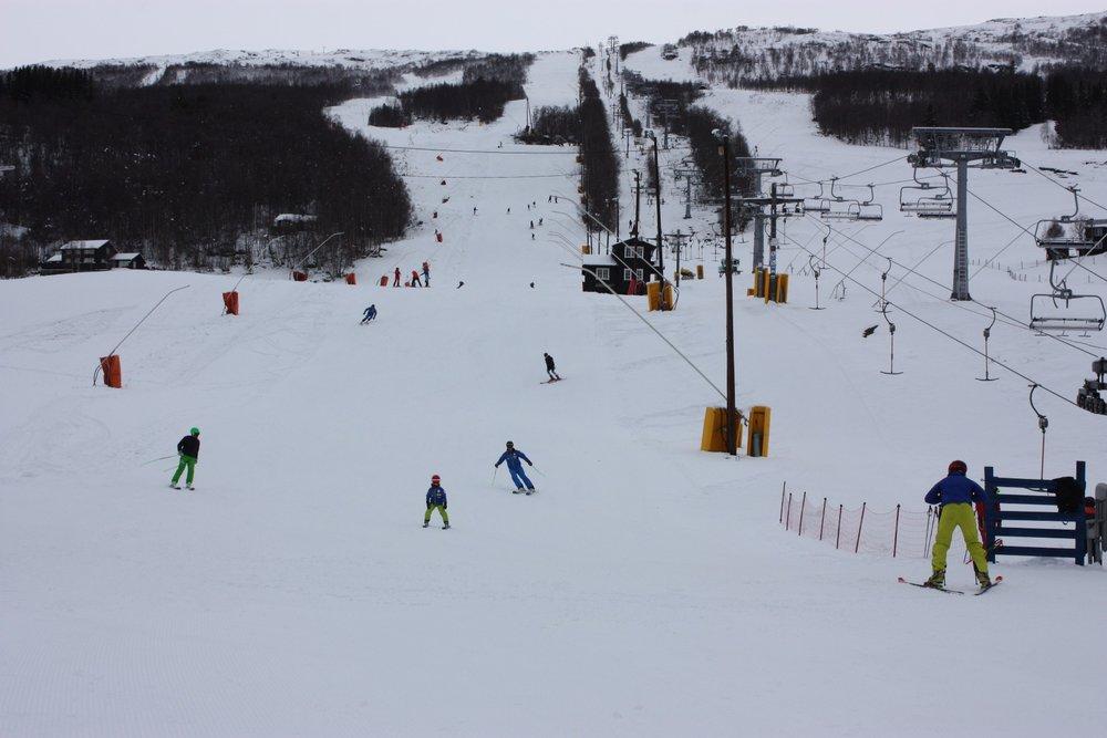 På lørdag åpnet Bjorli skisenter, og det var mange som tok turen til anlegget i helgen. - © Bjorli Skisenter