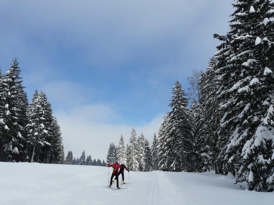 Ski nordique dans le Haut-Doubs, au Mont d'Herba - © CRT FRANCHE-COMTE