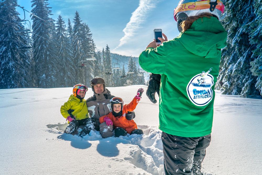 Clic, c'est dans la boîte ! Souvenir d'une journée au ski à Crest Voland - © Labellemontagne Crest-Voland Cohennoz