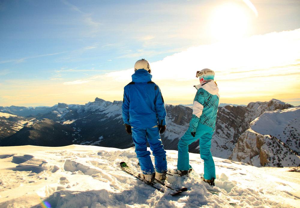 Vue panoramique depuis les pistes de ski de Villard de Lans - © C. Girard Blanc