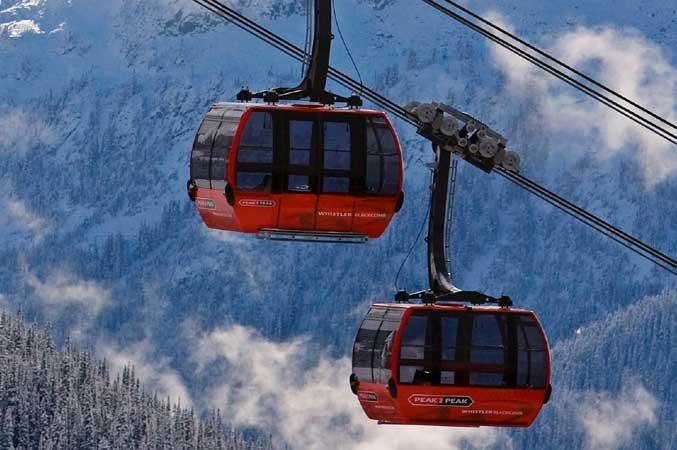 Whistler's Peak2Peak lift joins Whistler and Blackcomb Mountains.  - © Whistler Blackcomb.