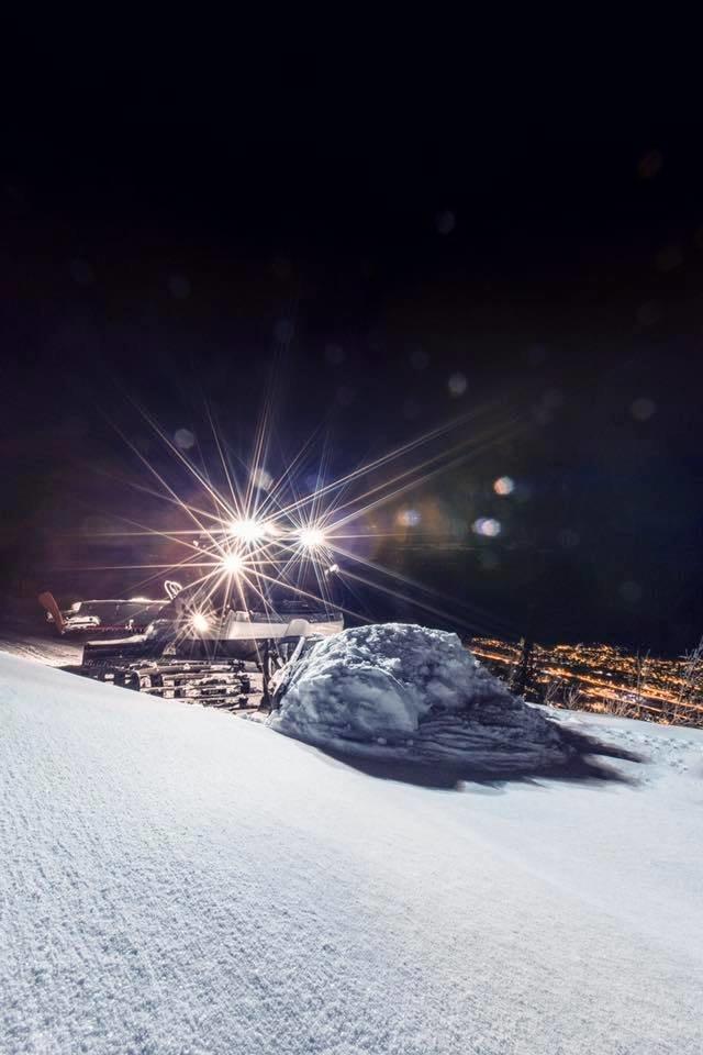 Natt til mandag dumpet det over en meter snø på Narvikfjellet. Fantastiske pudderforhold. - © Narvikfjellet