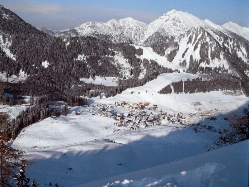 The scenic Austrian town of Berwang.
