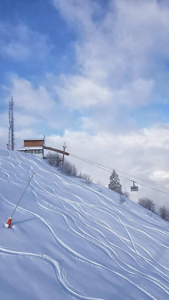 35cm of fresh snow in Megeve (28.1.19) - © Megeve/Facebook