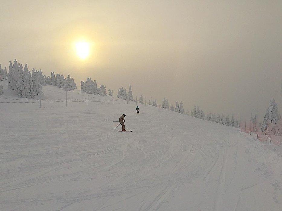 Rokytnice nad Jizerou, lyžování na prašanu - červená sjezdovka 4.1.2019 - © facebook Ski Roky