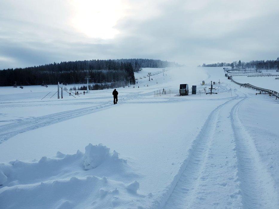 Vynikající sněhové podmínky ve skiareálu Obří sud Javorník - © Obří sud Javorník - facebook