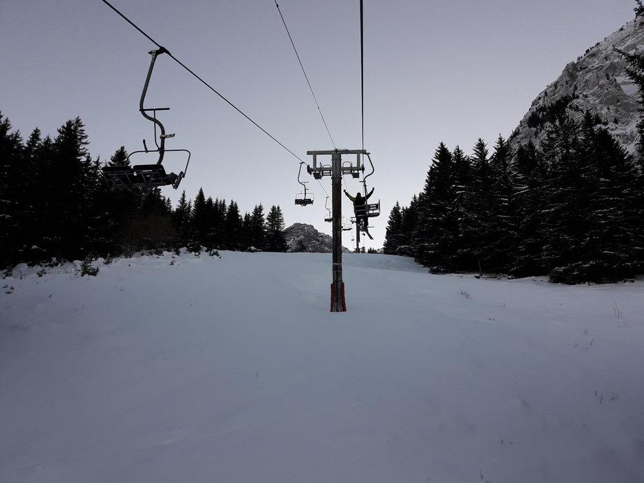 En route pour les pistes de ski de Mont Saxonnex - © Station de MONT SAXONNEX