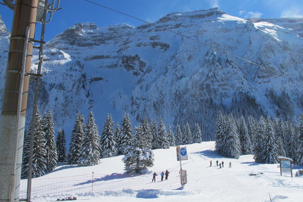 Vue depuis les pistes de ski de Mont Saxonnex - © Station de MONT SAXONNEX