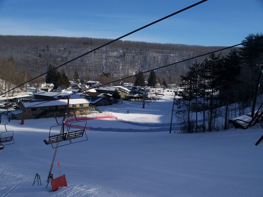 The base of Swain, NY as seen from the lifts, Jan. 4, 2009.