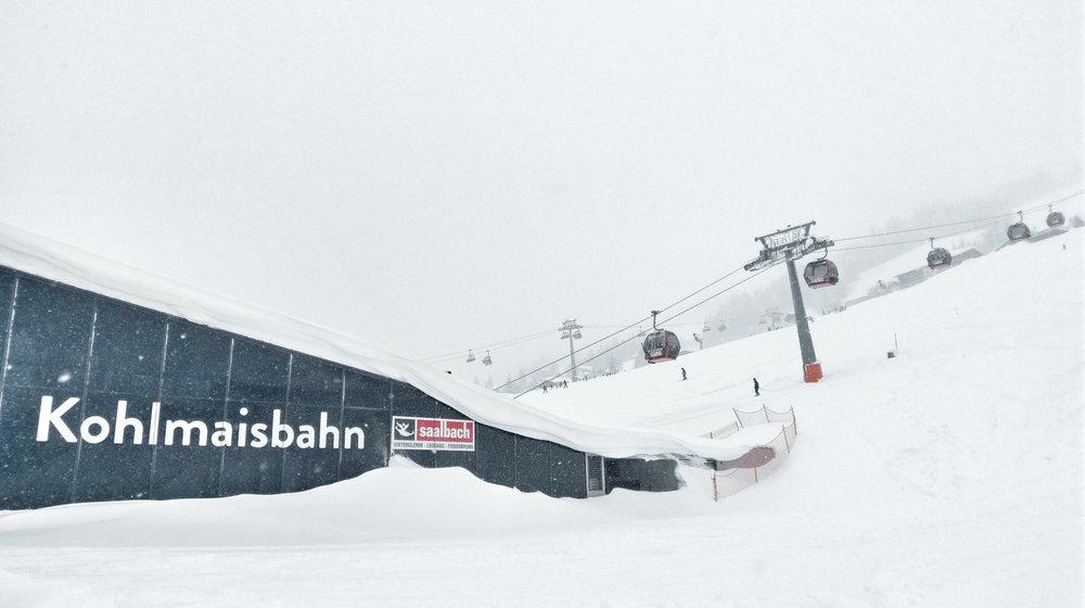 Winterliche Bedingungen an der neuen Kohlmaisbahn - © saalbach.com