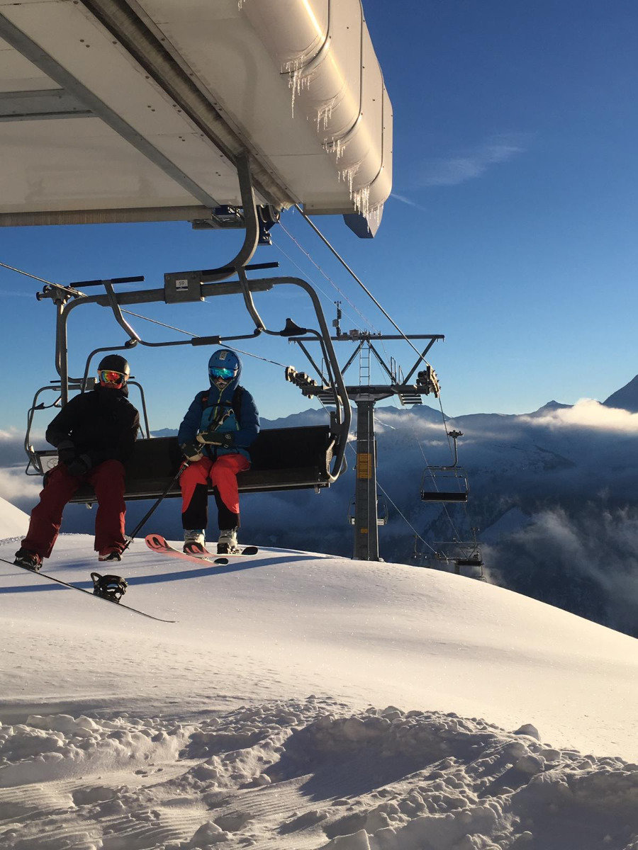 Impressionen aus dem Skigebiet Disentis - © Disentis