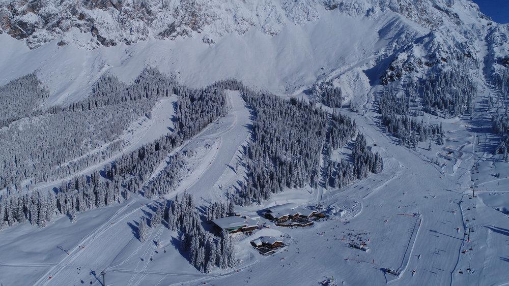 Impressionen aus dem Skigebiet Ehrwalder Almbahn - © Ehrwalder Almbahn