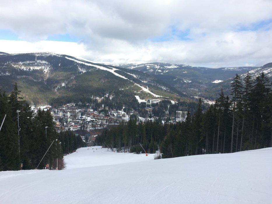 Vynikající jarní lyžařské podmínky ve Špindlerově Mlýně - © Skiareál Špindlerův Mlýn - facebook