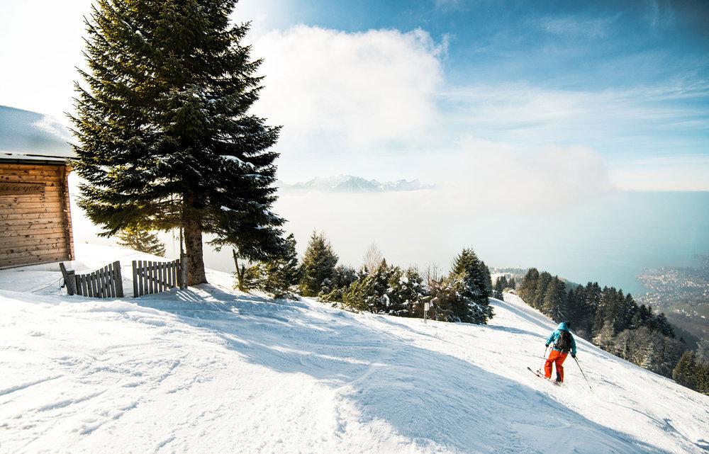 Skifahren in Rochers de Naye (SUI) - © Maude Rion