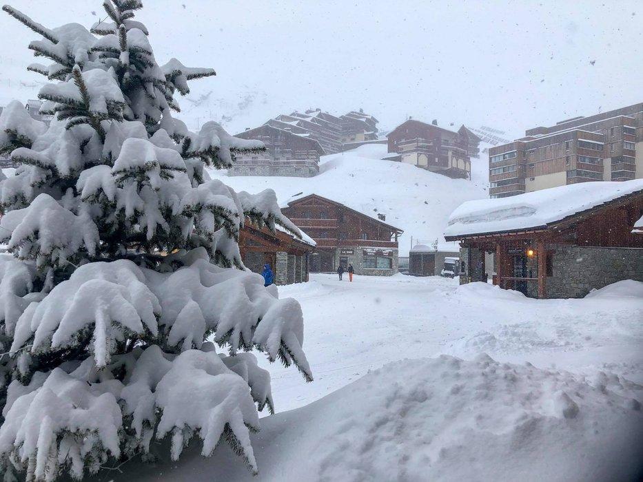 April powder: 25cm of snowfall overnight in Val Thorens (4.4.19) - © Val Thorens/Facebook