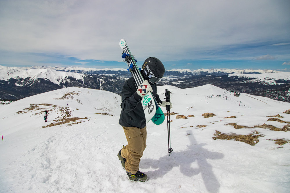 With a season that typically runs from October to May, A-Basin's East Wall may have powder, chalky snow or corn—depending on the time of year and even time of day.  - © Arapahoe Basin