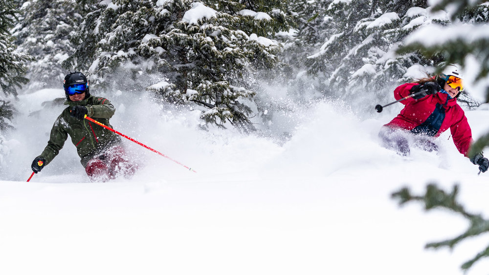 Who says you can't have friends on a powder day? - © Crested Butte