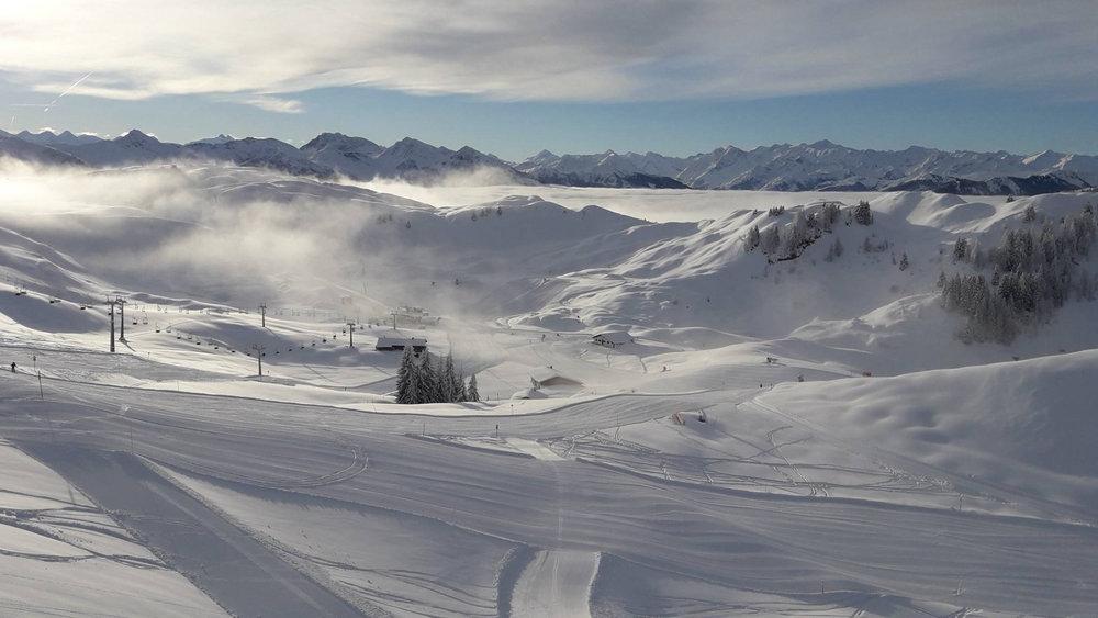 Traumhafte Bedingungen aktuell in Kitzbühel - © Facebook Kitzski