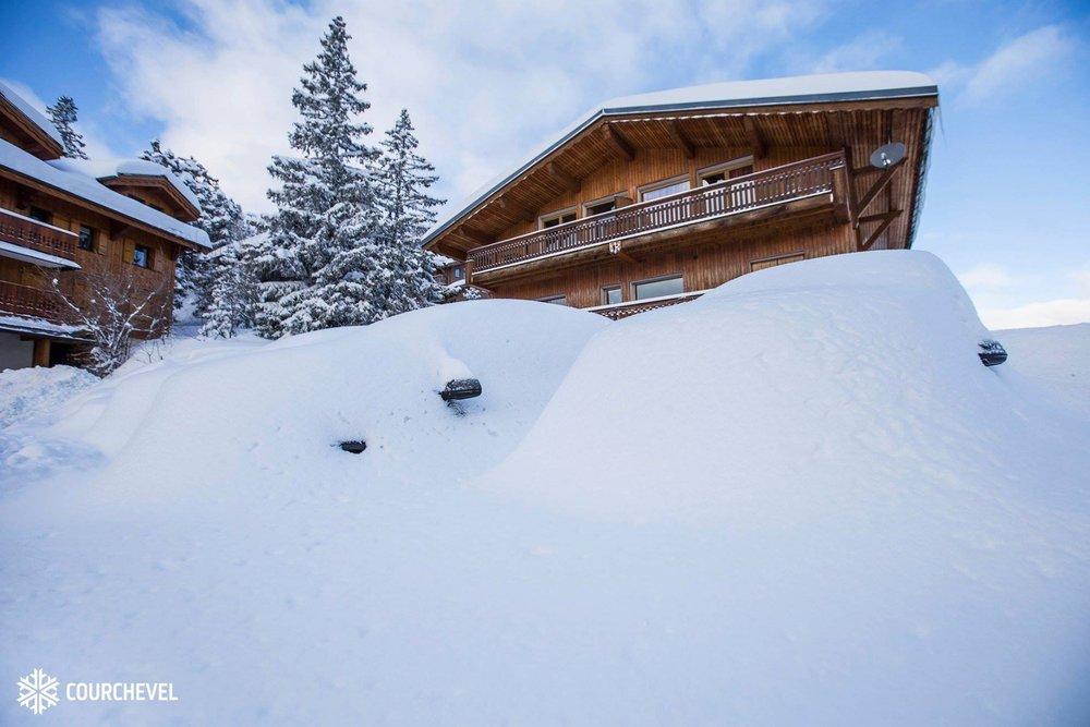 So wie Ende Januar könnte es in  Courchevel Mitte der Woche nochmal aussehen - © Courchevel/Facebook