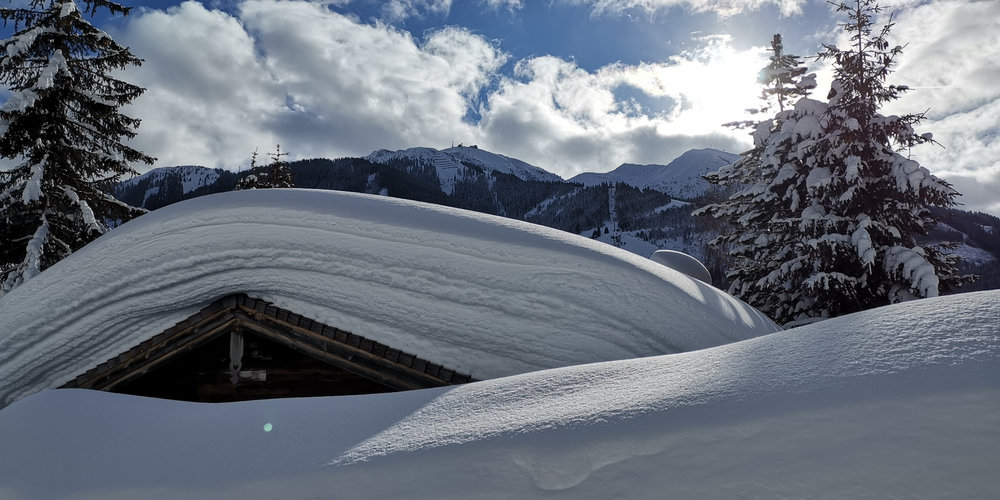Richtig viel Schnee im Skicircus Saalbach Hinterglemm im Januar 2019 - © saalbach.com