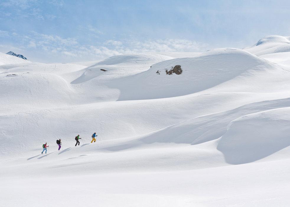 Skitour im Gebiet Langtalereckhütte, Ötztaler Alpen - © OeAV Norbert Freudenthaler