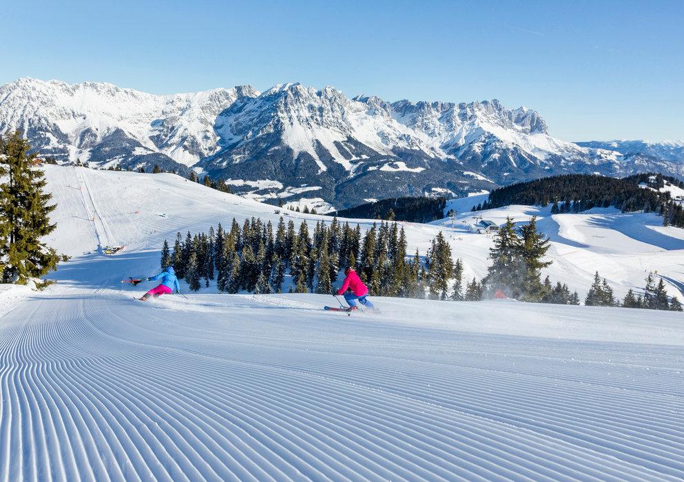 Perfekte Pisten für die Skifahrer - © Anita Baumgartner