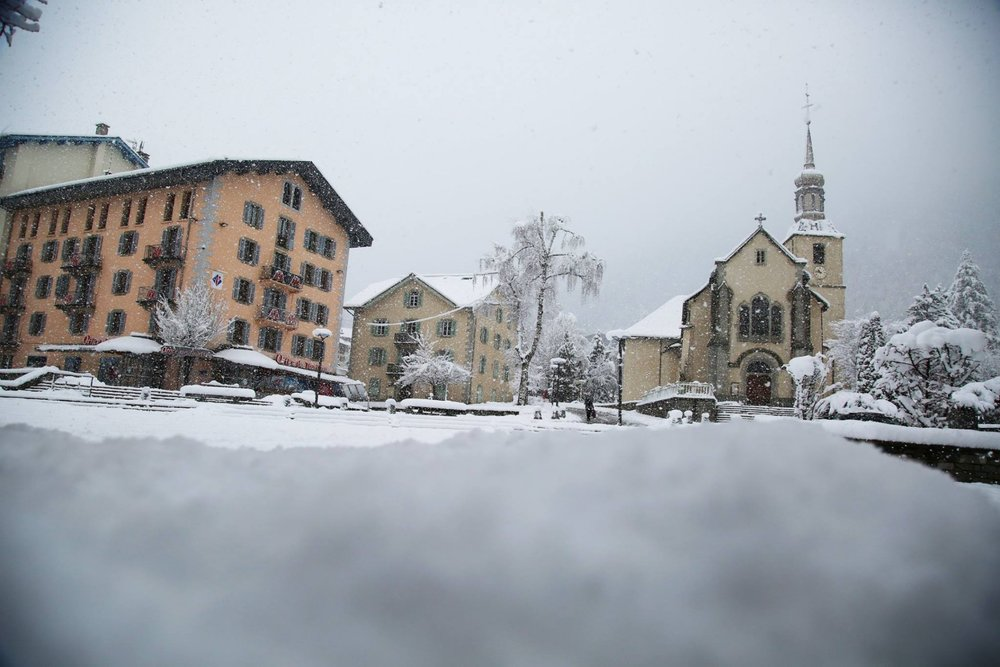 The snow is back in town for Chamonix (50cm of powder on 4.4.19) - © Chamonix/Facebook