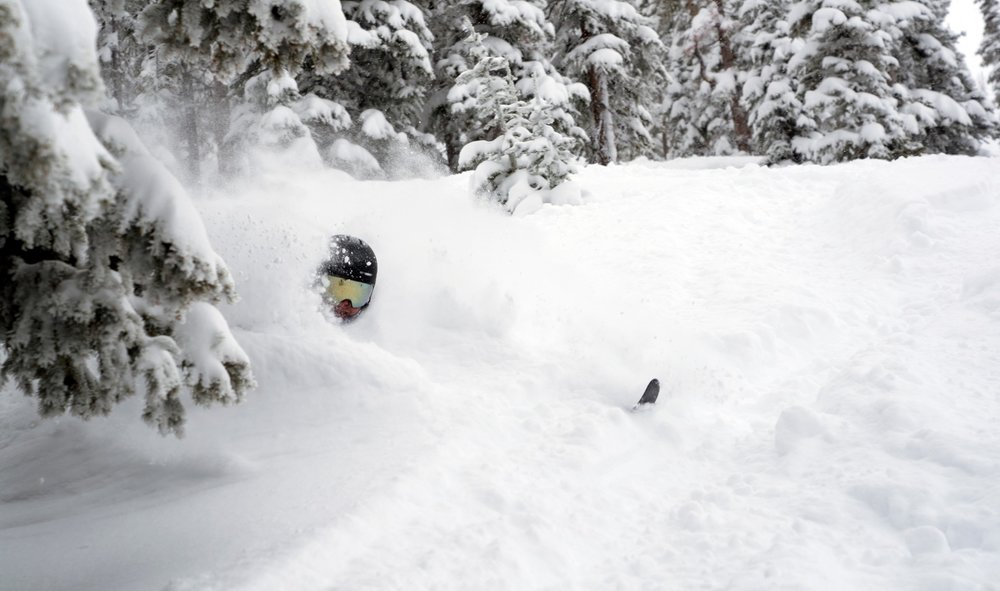 """Winter Park in mid April, 2019, with 21"""" of snow in a single 24-hour dump. - © Carl Frey/Winter Park Resort"""