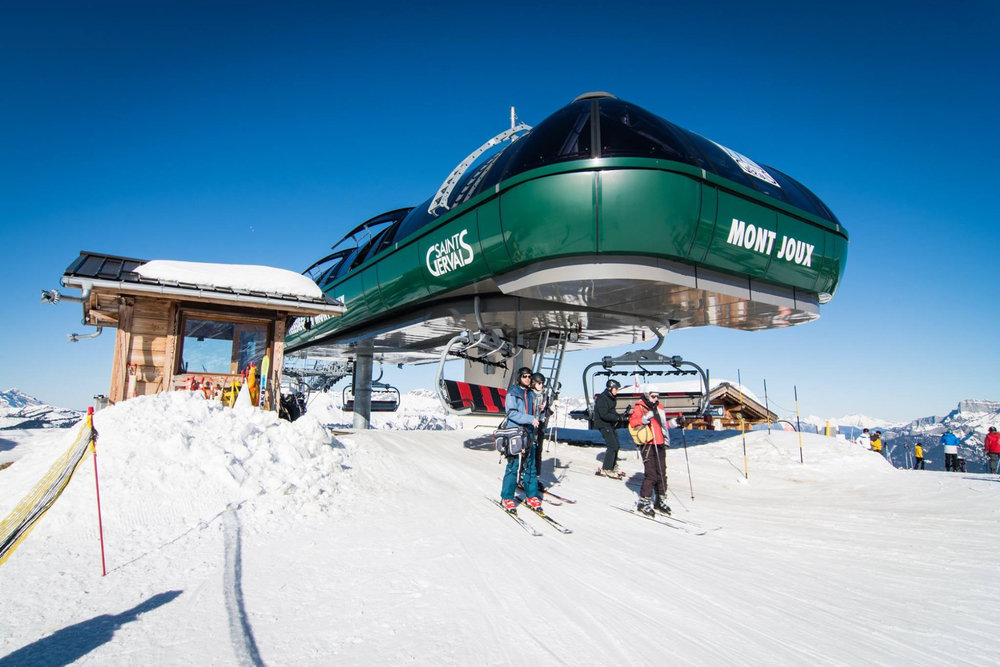 En piste, direction les pistes de ski de Saint-Gervais Mont-Blanc - © Facebook Saint-Gervais Mont-Blanc
