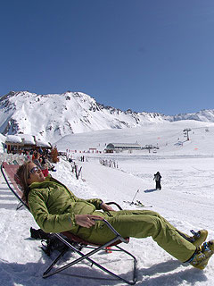 Soaking up the sun in Val d'Isère