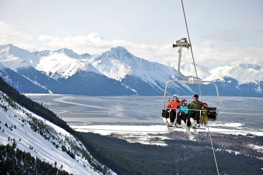 Family on a chairlift - © Hage_Photo