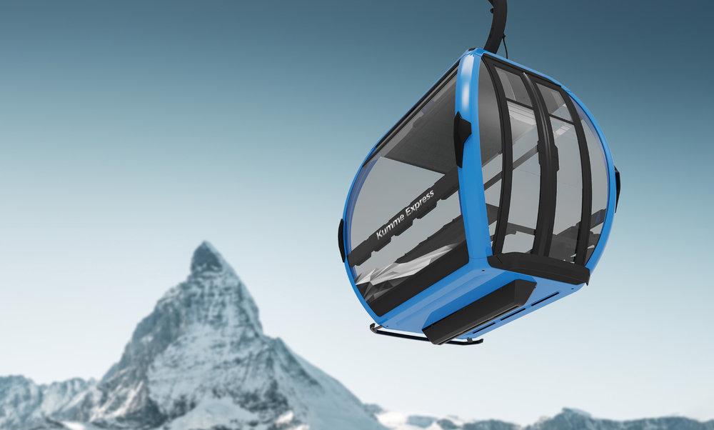 So soll die Kabine der GB Kumme aussehen. - © Zermatt Bergbahnen AG