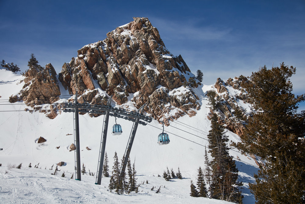 Just a normal day of epic-ness at Snowbasin. - © James Winegar