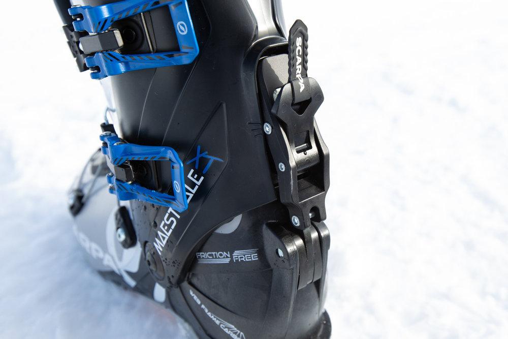 Der Ski/Walk-Mechanismus ist sehr einfach zu bedienen  - © Skiinfo