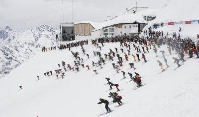 Start auf der Valluga - © Tvb St. Anton am Arlberg
