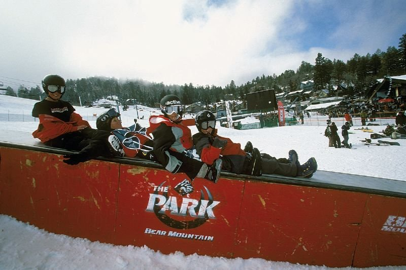 A group of children at Snow Summit, California