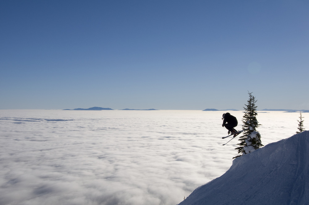 Zak Anderson launches air at Whitefish Mountain Resort on an inversion day. Photo: Whitefish Mountain Resort/