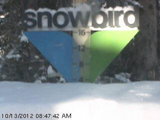 Snowbird's got some accumulation. - © Snowbird SnowCam
